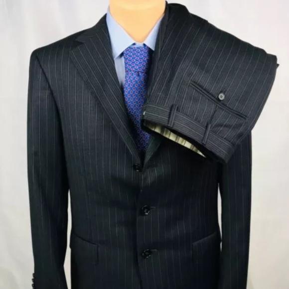 4bf30ab6 Ermenegildo Zegna 38R Navy Trofeo Wool Suit